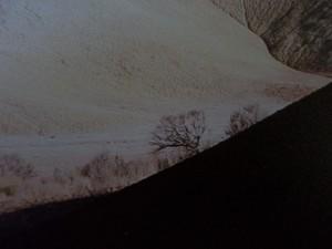 Détail d'une petite surface du tirage grand format