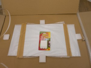 Ordering at Zor.com - Inside the inner box, the prints are individually protected by bubble wrap and held in place by blocks of foam